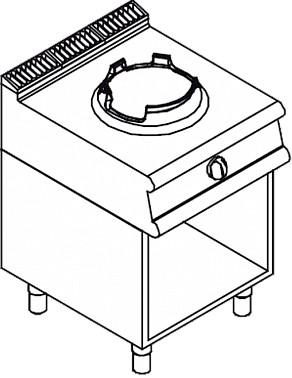 Газовая плита WOK APACH LRWG67POS - 1