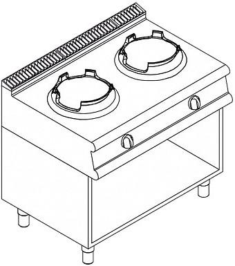 Газовая плита WOK APACH LRWG107OS - 1
